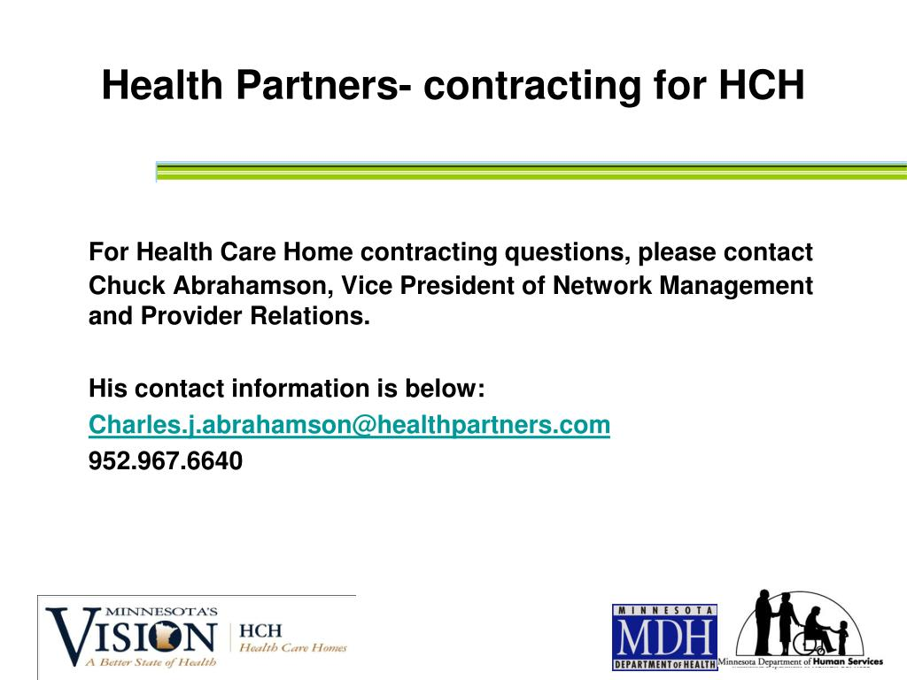 Health Partners- contracting for HCH