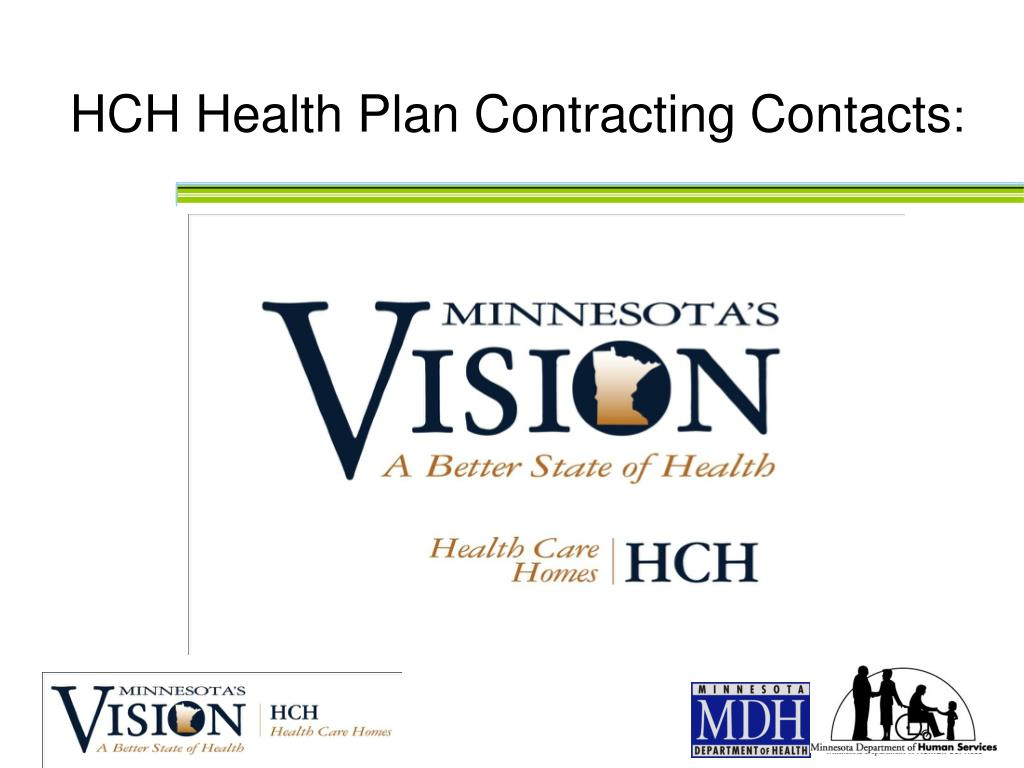 HCH Health Plan Contracting Contacts