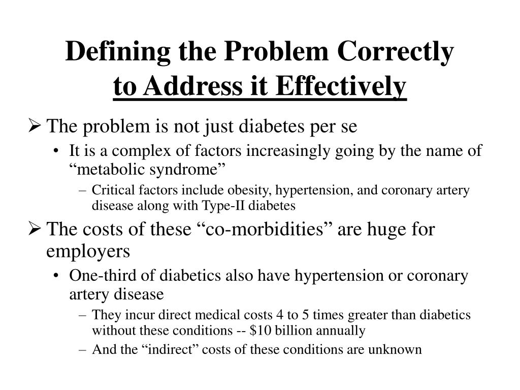 Defining the Problem Correctly