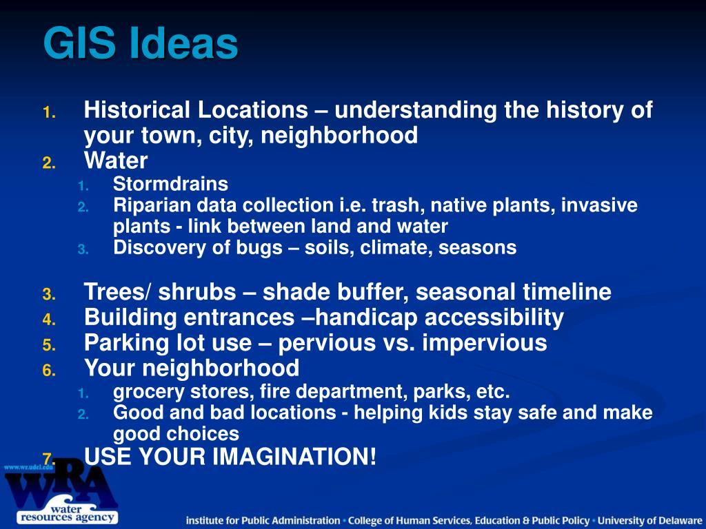 GIS Ideas