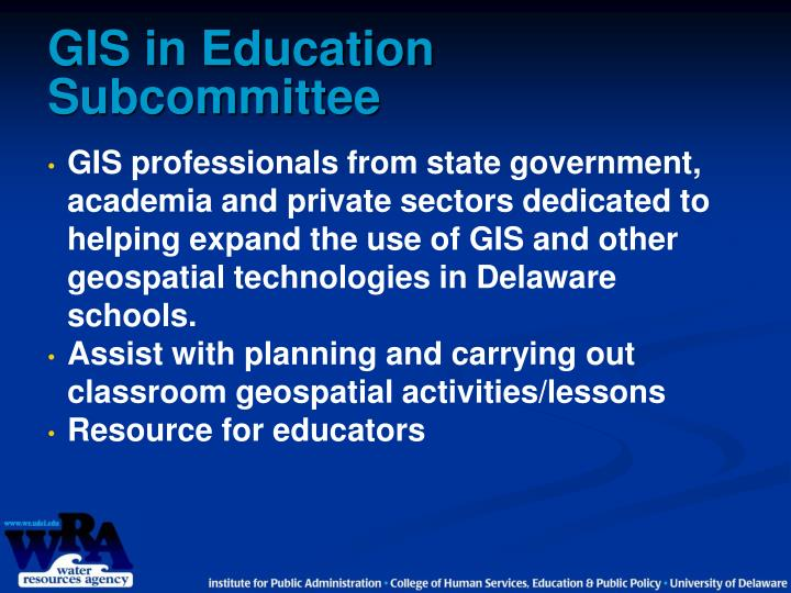 Gis in education subcommittee