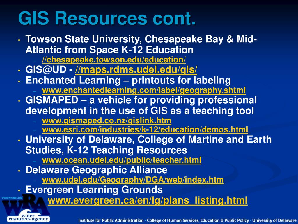GIS Resources cont.