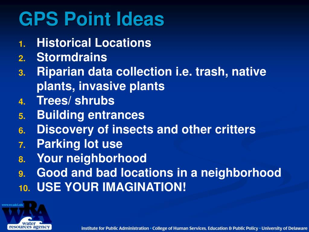 GPS Point Ideas