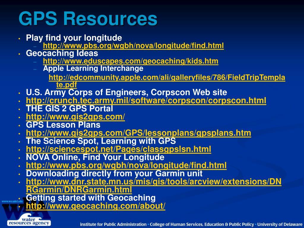 GPS Resources