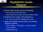 megaloblastic anemia diagnosis