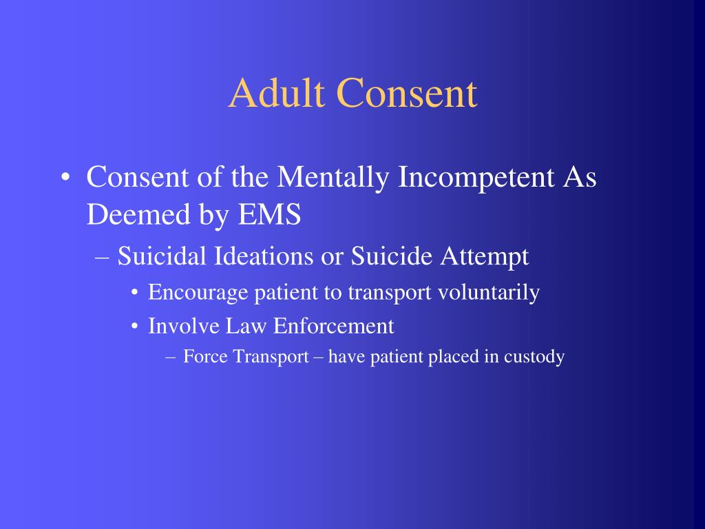 Adult Consent