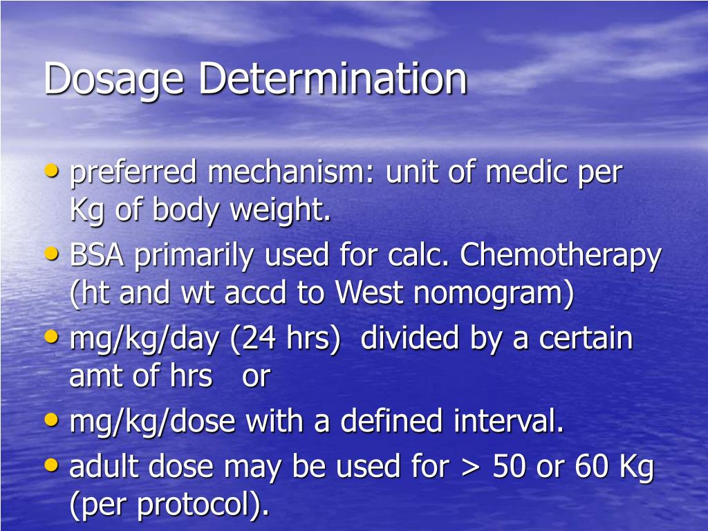 Dosage Determination