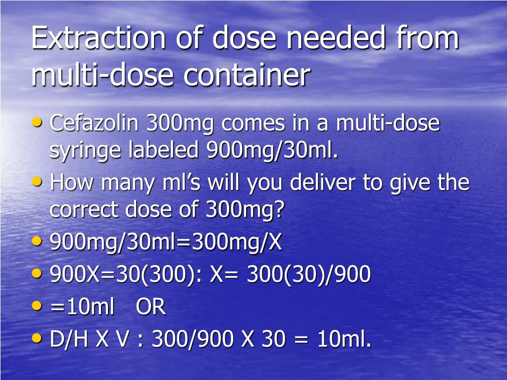 Extraction of dose needed from multi-dose container