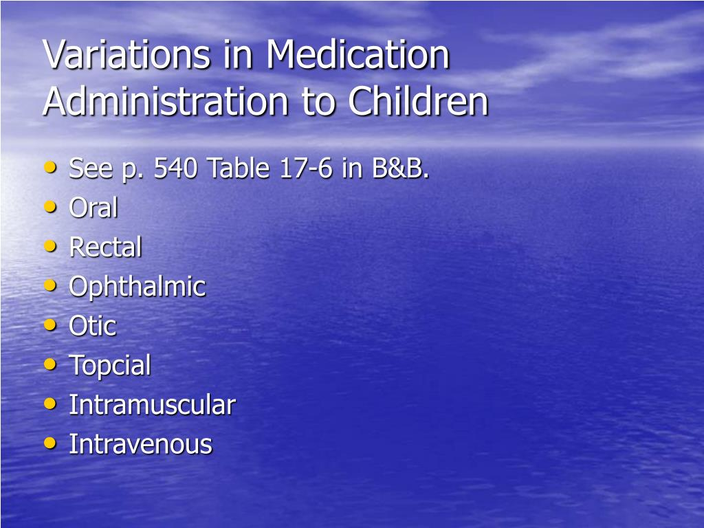 Variations in Medication Administration to Children