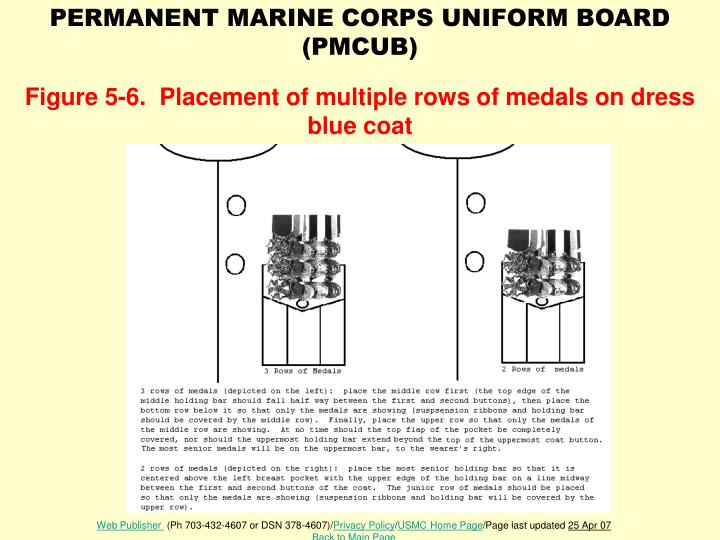 Snco evening dress medal placement on marine