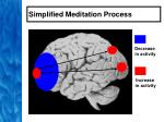 simplified meditation process46