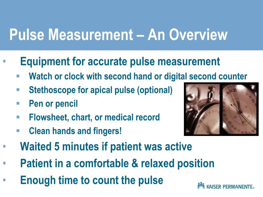 Pulse Measurement – An Overview