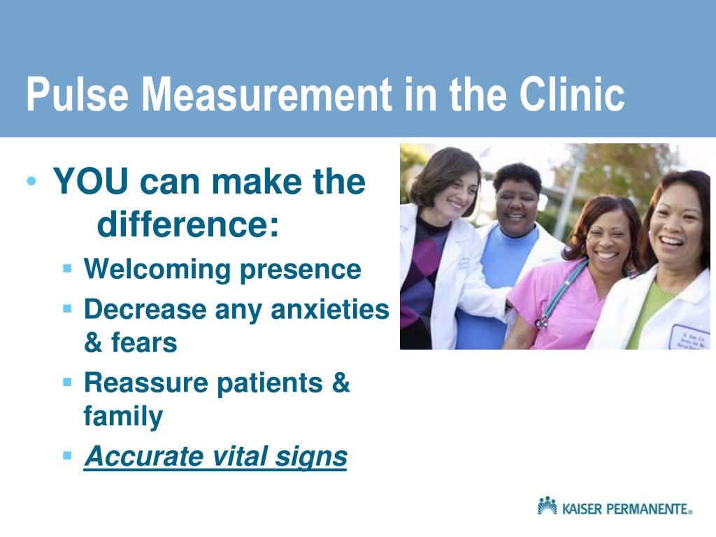 Pulse Measurement in the Clinic