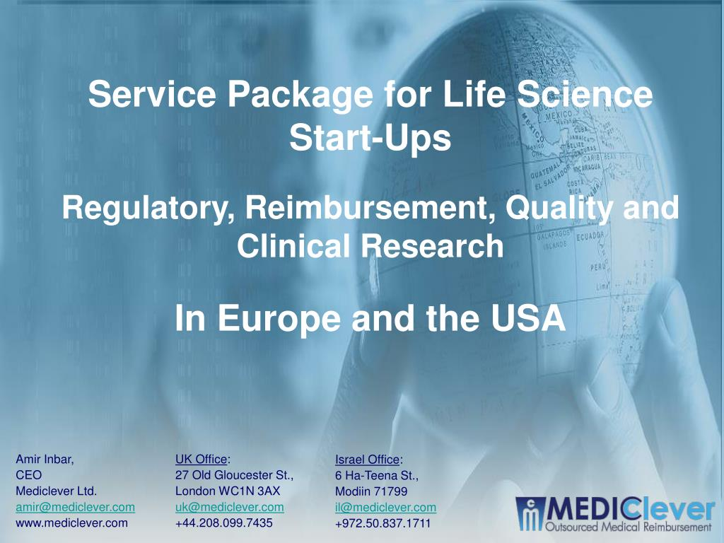 Service Package for Life Science Start-Ups