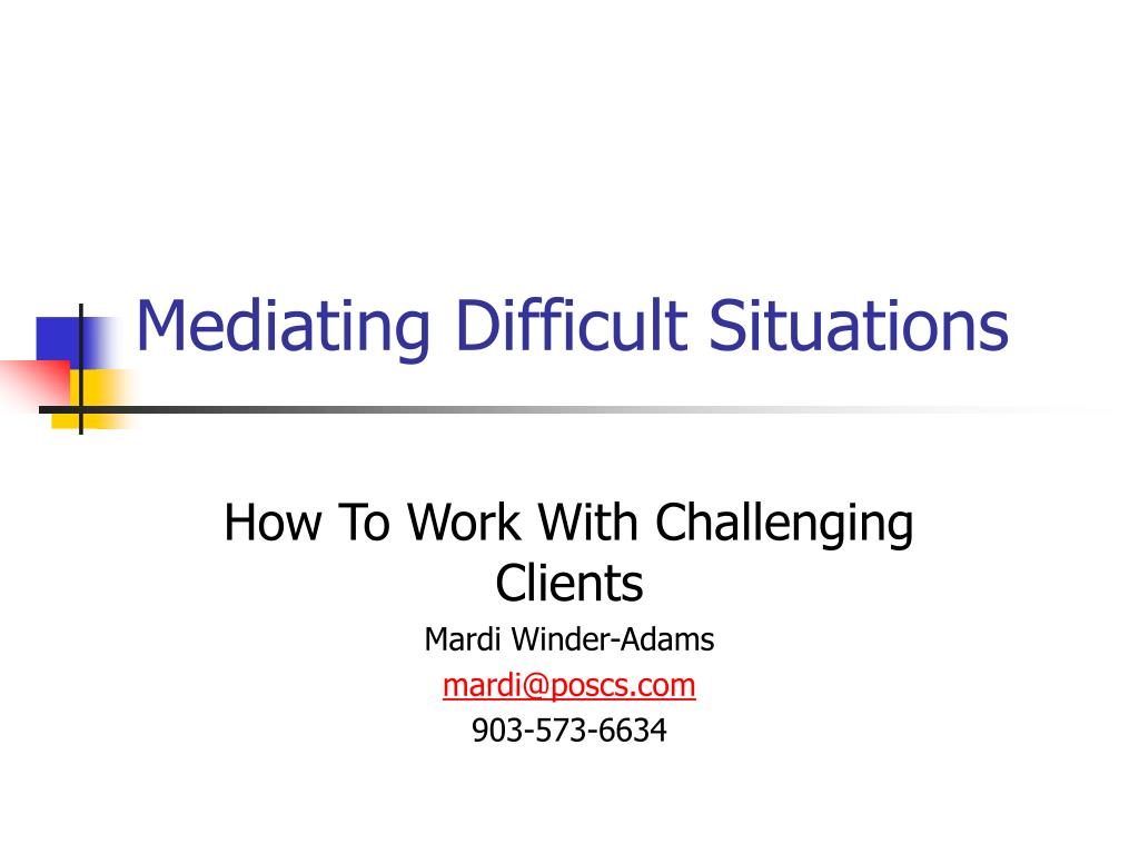 mediating difficult situations l.