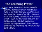 the centering prayer