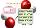 energ a de ionizaci n