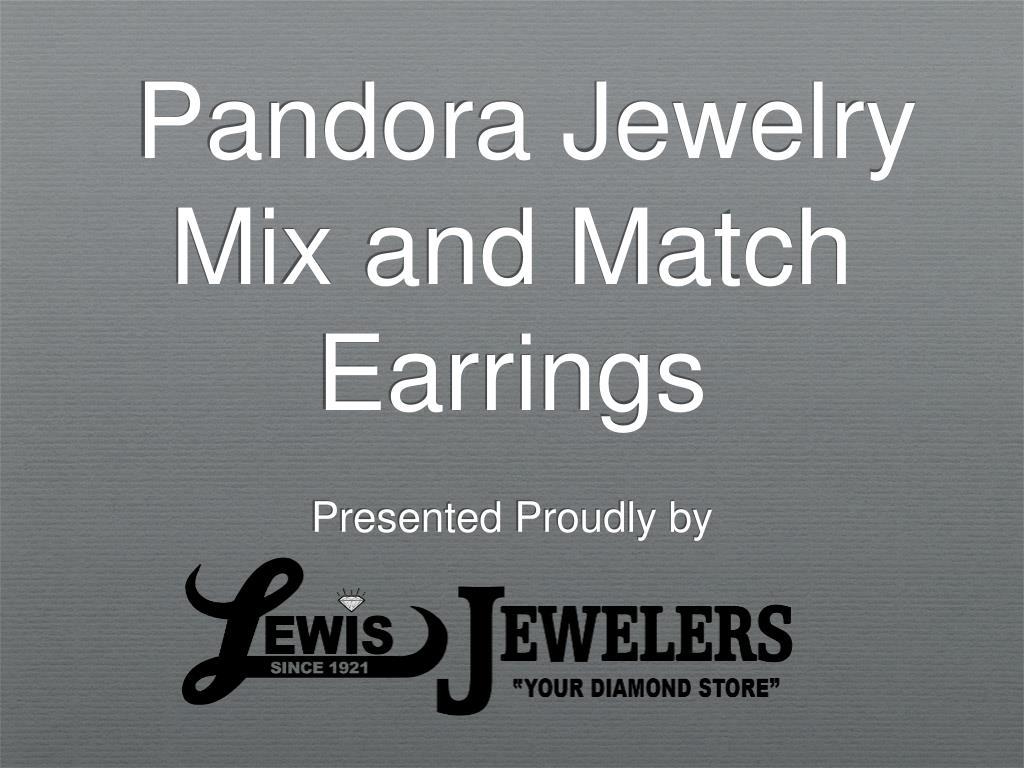 pandora jewelry mix and match earrings