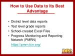 how to use data to its best advantage