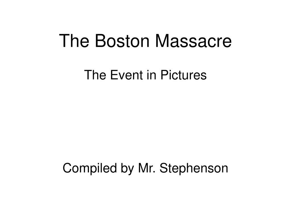 the boston massacre l.