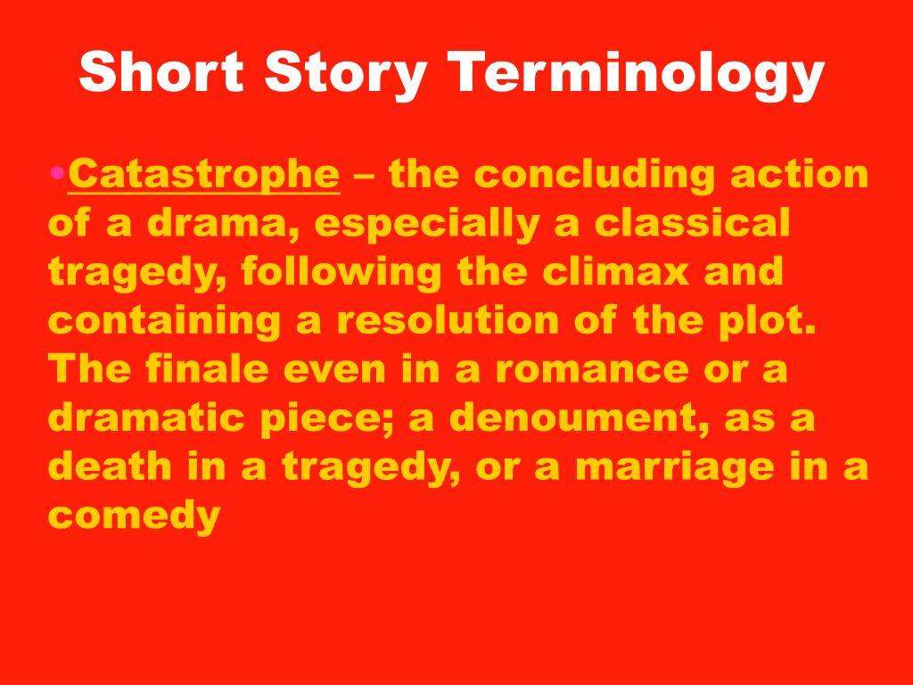PPT - Short Story Terminology PowerPoint Presentation - ID