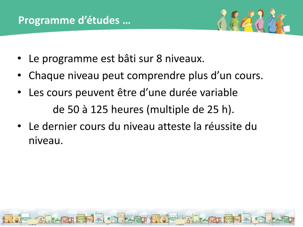 Programme d'études …