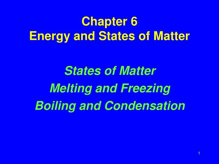energy and states of matter essay Molecules matter key concepts matter is made up of extremely tiny particles called atoms and molecules atoms and molecules make up the three common states of.