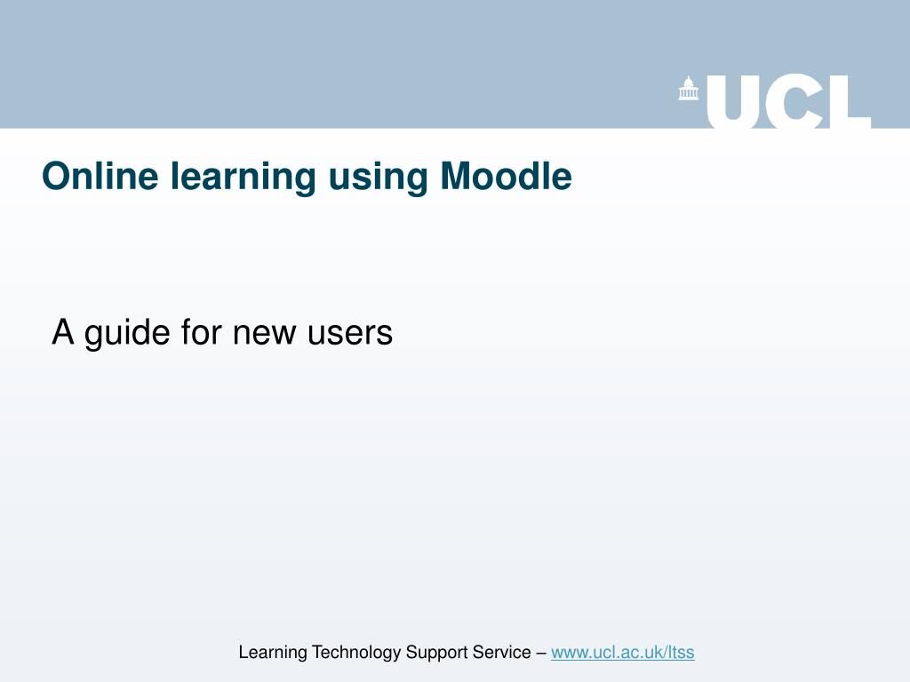 Online learning using Moodle