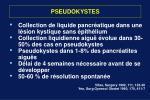 pseudokystes