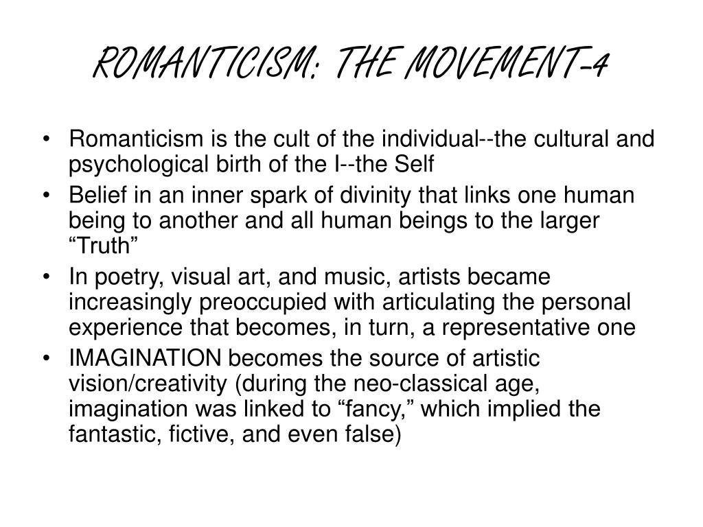 ROMANTICISM: THE MOVEMENT-4
