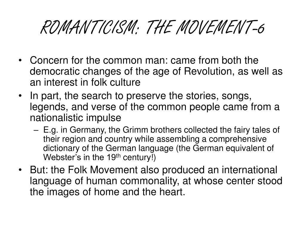 ROMANTICISM: THE MOVEMENT-6
