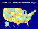 states that declared snakehead illegal