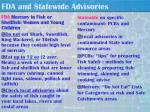 fda and statewide advisories