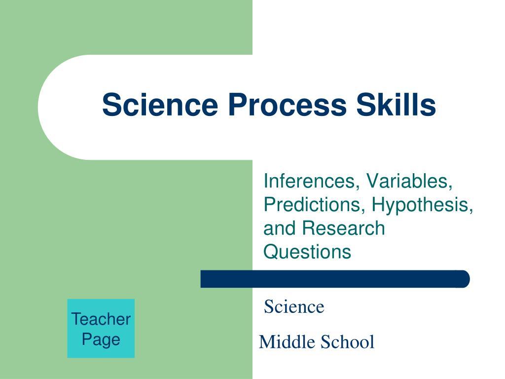 science process skills l.