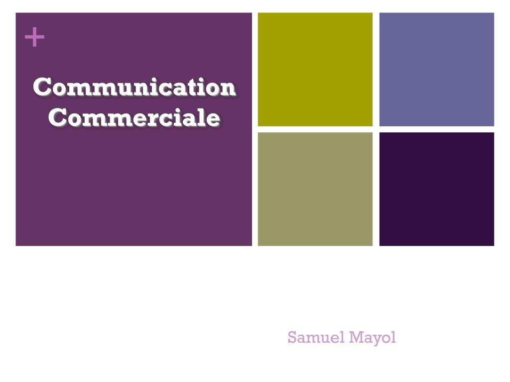 communication commerciale l.