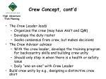 crew concept cont d