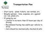 transportation plan