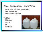 water composition stock water