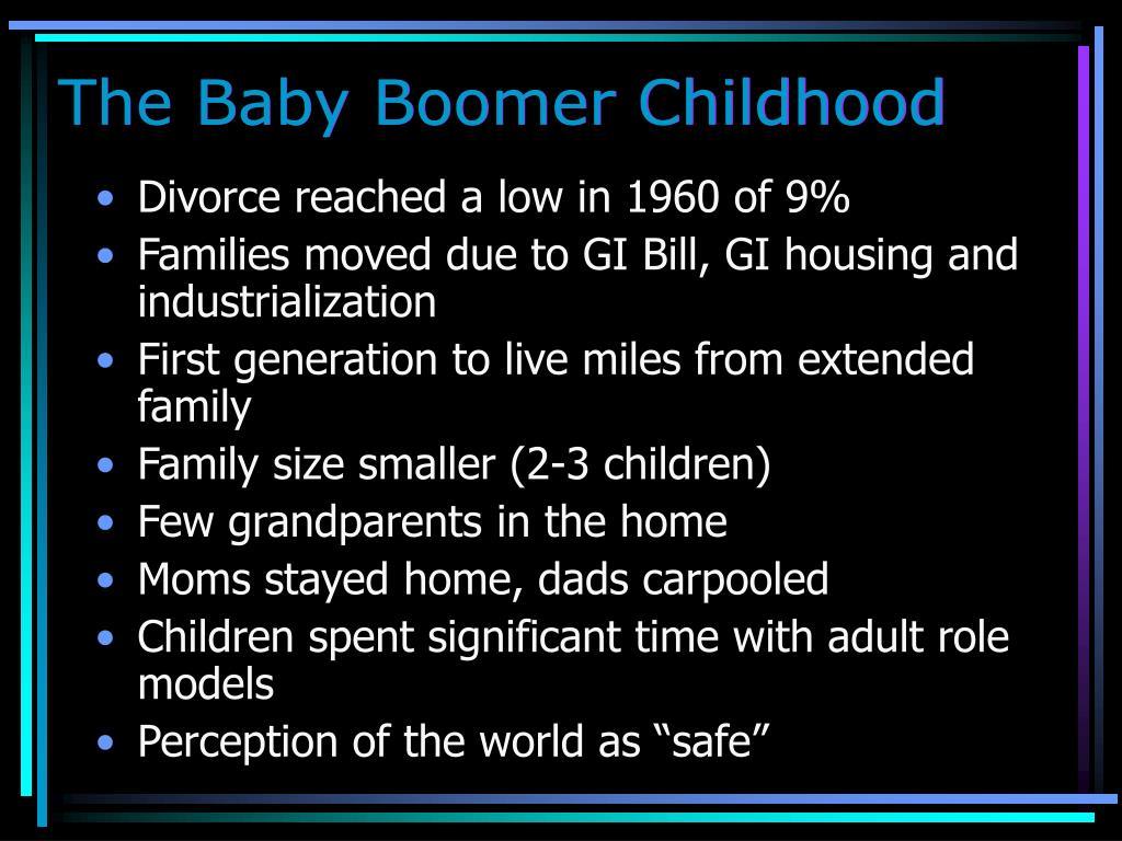 The Baby Boomer Childhood