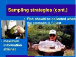 sampling strategies cont