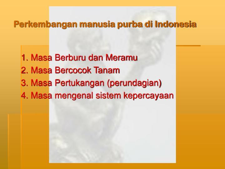 Perkembangan manusia purba di indonesia