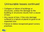 uninsurable losses continued6