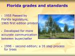 florida grades and standards