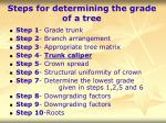 steps for determining the grade of a tree25