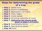 steps for determining the grade of a tree38