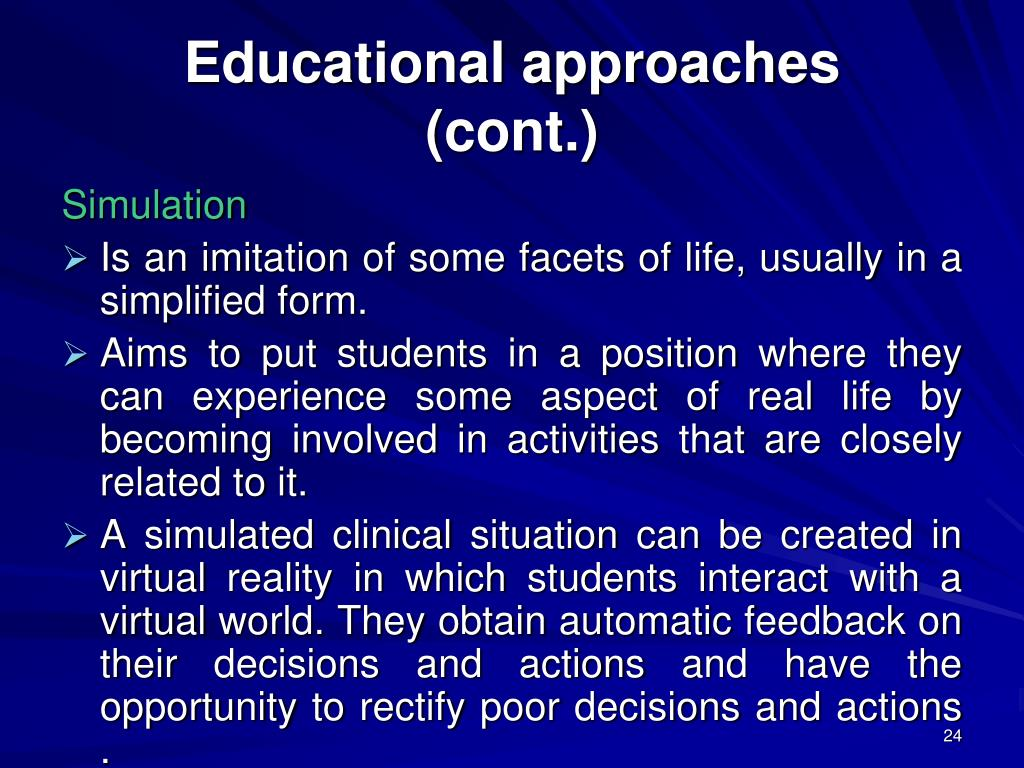Educational approaches
