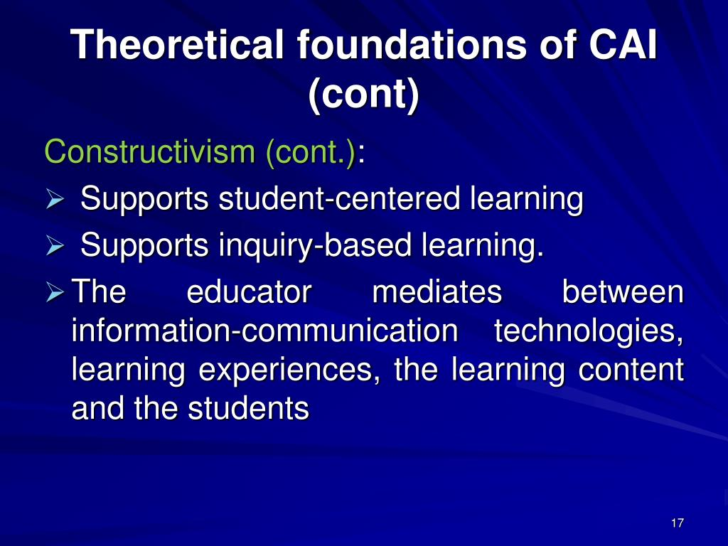 Theoretical foundations of CAI