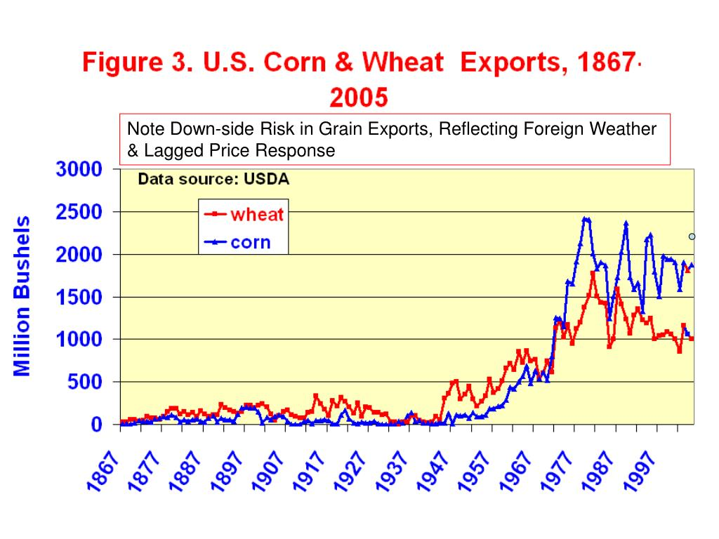 Note Down-side Risk in Grain Exports, Reflecting Foreign Weather