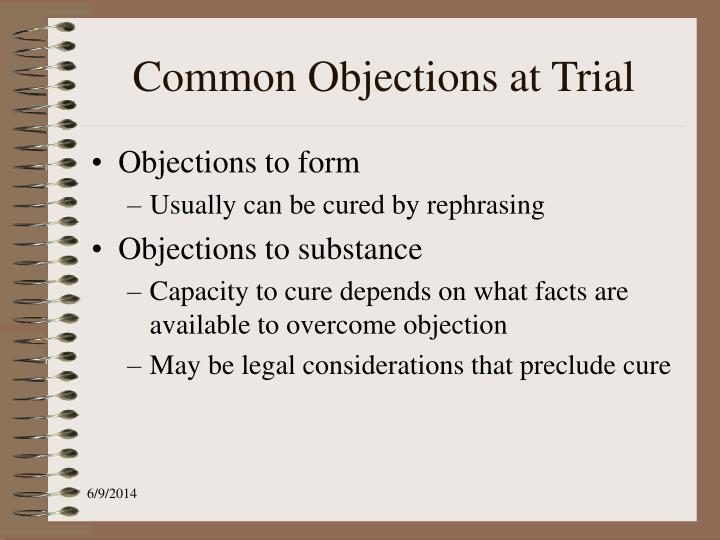 Common Objections at Trial