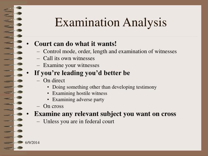 Examination Analysis